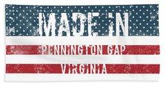 Made In Pennington Gap, Virginia Bath Towel