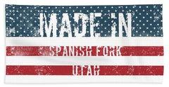 Made In Spanish Fork, Utah Hand Towel