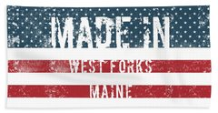 Made In West Forks, Maine Hand Towel