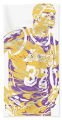 Magic Johnson Los Angeles Lakers Pixel Art 6 Hand Towel