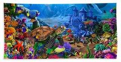 Magical Undersea Turtle Hand Towel