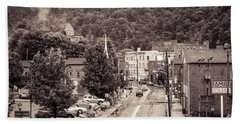 Bath Towel featuring the photograph Main Street Webster Springs by Thomas R Fletcher