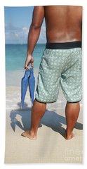 Male Bodyboarder Bath Towel