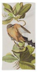Mangrove Cuckoo Hand Towel by John James Audubon