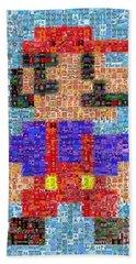 Mario Mosaic Bath Towel