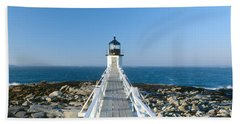 Marshall Point Lighthouse From 1832 Hand Towel