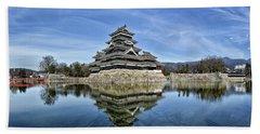 Matsumoto Castle Panorama Bath Towel
