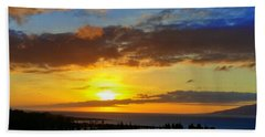Maui Sunset At The Plantation House Hand Towel