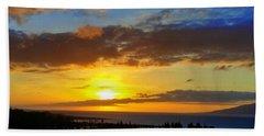 Maui Sunset At The Plantation House Bath Towel