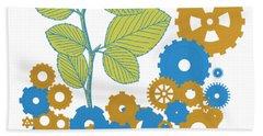 Hand Towel featuring the digital art Mechanical Nature by Alberto RuiZ