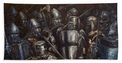 Medieval Battle Bath Towel by Arturas Slapsys