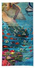 Mermaid In Paradise Hand Towel