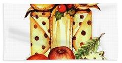 Merry Christmas Hand Towel by Heidi Kriel