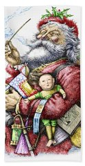 Merry Old Santa Claus Hand Towel