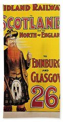Midland Railway To Scotland And The North Of England Travel Advertisement Art Picture Poster Bath Towel
