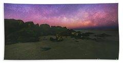 Milky Way Beach Hand Towel by Robert Loe