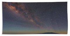 Milky Way Over Mauna Loa Hand Towel
