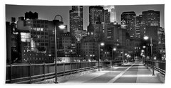 Minneapolis Skyline From Stone Arch Bridge Hand Towel