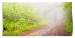 Misty Back Road, Pocono Mountains, Pennsylvania Bath Towel