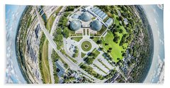 Hand Towel featuring the photograph Mitchell Park Domes by Randy Scherkenbach