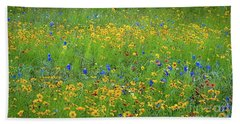 Bath Towel featuring the photograph Mixed Wildflowers In Texas 538 by D Davila