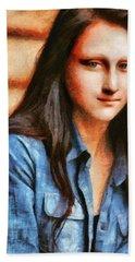 Modern Mona Lisa - Camille Style Hand Towel