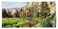 Monkey Face Rock - Smith Rock National Park Hand Towel