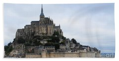 Mont St Michel Bath Towel by Therese Alcorn