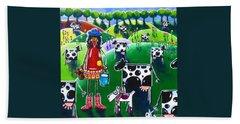 Moo Cow Farm Bath Towel by Jackie Carpenter