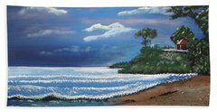 Moonlight In Rincon II Hand Towel by Luis F Rodriguez