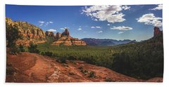 Mormon Canyon Panorama Hand Towel