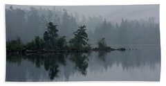 Morning Fog Over Cranberry Lake Bath Towel