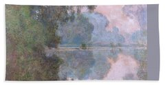 Morning On The Seine Near Giverny 1896 Bath Towel
