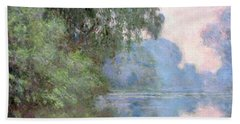 Morning On The Seine Near Giverny 1897 Bath Towel