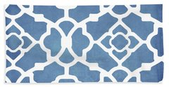 Moroccan Blues Hand Towel by Mindy Sommers