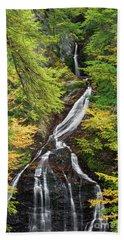 Moss Glen Falls Hand Towel by Sharon Seaward