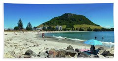 Mount Maunganui Beach 1 - Tauranga New Zealand Hand Towel by Selena Boron