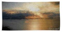 Mounts Bay Bath Towel by Roger Lighterness