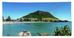 Mt Maunganui Beach 7 - Tauranga New Zealand Bath Towel