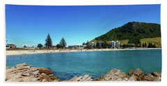 Mt Maunganui Beach 9 - Tauranga New Zealand Bath Towel