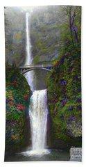 Multnomah Falls Hand Towel by Scott Cameron