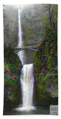Multnomah Falls Bath Towel by Scott Cameron