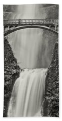 Multnomah Falls Upclose Hand Towel by Don Schwartz