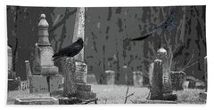 Hand Towel featuring the photograph Murder Of Crows by Rowana Ray