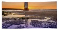 New Brighton Lighthouse Bath Towel