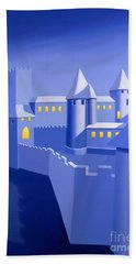 Night Castle Bath Towel