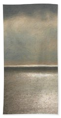 Not Quite Rothko - Twilight Silver Bath Towel