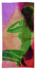 Nude Woman Hand Towel