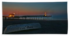 Ocean City  N J Sunrise Hand Towel by Allen Beatty