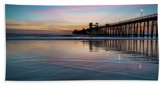 Oceanside Pier Sunset Hand Towel